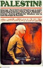 Political Poster.SET of 5.Cuba Propaganda.Solidarity Palestine.Arab history art