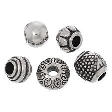 50 European Style Beads Large Holed Acrylic 10 of Each Design 10-14mm J03266W