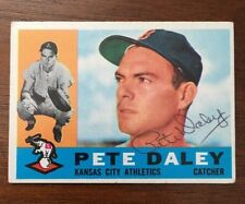 PETE DALEY 1960 TOPPS AUTOGRAPHED SIGNED AUTO BASEBALL CARD 108 A'