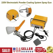 220v Pc03 5 Professional Powder Coating System Paint Gun Coat Portable 33w Usa