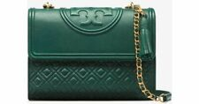 Tory Burch Fleming Convertible Shoulder Bag Purse - LARGE New - NORWOOD GREEN