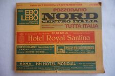 1980 Italy Italian Train Railway Timetable Orario Generale Nord Centro Italia