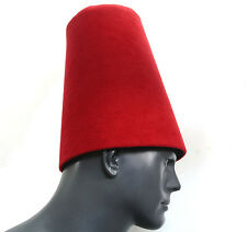 Whirling Dervish Hat, Sufi hat ''Sikke'' cherry red