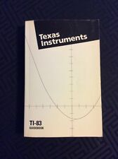 Texas Instruments TI-83 Graphic Calculator English GuideBook Only Vintage