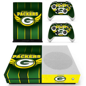 Xbox one S Slim Console Controllers Vinyl Stickers Decals Green Bay Packers NFL