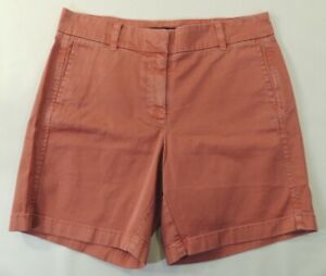 """NWT J. Crew Shorts Washed Red Solid 7"""" Inseam Casual School Classic Chino 4 NEW"""