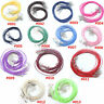 20/40/100 Mixed Colors Lobster Clasp Korea Wax Cords Line Cord Necklace 47CM