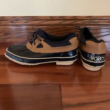 Womens SPORTO Blue Rubber Bottom Moc Shoes, Thermolite Insulation, Size 9M NWOT