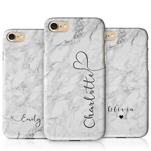 Personalised Monogram Grey Marble Phone Cases for Apple iPhone