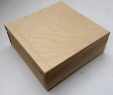Small square pine wood box great for homeopathy massage oil bottle display DD149