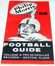 Vtg 1956 Philip Morris Tobacco NCAA/NFL Football Schedule Guide Book Stadiums