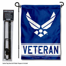 U.S. Air Force Veteran Garden Flag and Yard Stand Included