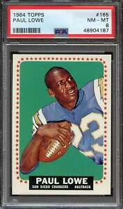 1964 TOPPS #165 PAUL LOWE PSA 8 SP CHARGERS *ADT4429