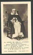 Estampa antigua del Siervo Padre Antonio andachtsbild santino holy card santini