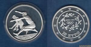 Grèce 2003 10 Euro Saut en Longueur Jeux Olympiques été Athénes 2004 - Greece