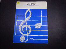 *  BEATLES SHEET MUSIC-'Get Back' Lennon & McCartney-1969 vintage