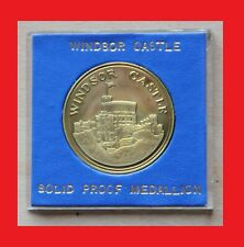 MEDAILLE PIECE COMEMORATIVE CHATEAU WINDSOR UK ENGLAND THE YALE OF BEAUFORT 1989