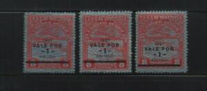 Venezuela: 1937; Scott C45 x 3 diff. position of surcharged, mint Nh. VZ0952