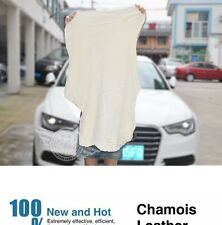 Natural Genuine Leather Chamois Shammy Sponge cloth Sheepskin Towel Car Washing