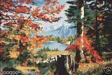 Stickpackung Herbst im Tal Kreuzstich 42x28 cm Valley in the fall DIY #PE3250