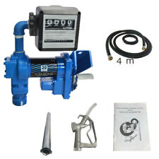 12v Fuel Transfer Pump Diesel Gasoline Anti Explosive With Oil Meter New