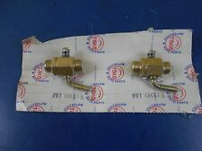 """1/4"""" X 1/4"""" BRASS PETCOCK, MOTORCYCLES, GAS EQUIPMENT. HOT RODS. SOLD IN PAIRS"""