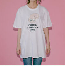 [Chuu] EstherLovesYou Women Girls Bunny White Loose Fit Cotton T Shirts Korea