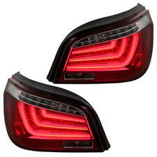 LED Lightbar Rückleuchten BMW 5er E60 Limo Bj. 2003-2007 Rot/Chrom LED Blinker
