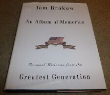 TOM BROKAW SIGNED BOOK AN ALBUM OF MEMORIES 1ST EDITION HC/DJ NBC NEWS ANCHOR