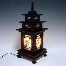 Leuchte Tischlampe Nachtischlampe Holz Lack Neu Luxus Edel