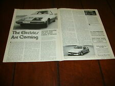 1979 ELECTRIC CAR  ***ORIGINAL VINTAGE ARTICLE***