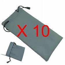 10 Pcs Sunglasses grey soft Bag Pouch Case - Ideal for all Glasses wholesale