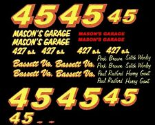 45 Mason's Garage Satch Worley - Harry Gant 1/64th Scale WATERSLIDE DECAL