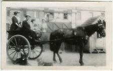 PHOTO ANCIENNE - CHEVAL CALÈCHE ATTELAGE FIACRE CHIEN-HORSE DOG-Vintage Snapshot