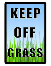 KEEP OFF GRASS Sign..LAWN SIGN..Aluminum NO RUST..High Quality..High Gloss Color