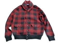 Rare $495 Polo Ralph Lauren Wool Buffalo Plaid Cardigan Shawl Jacket RRL