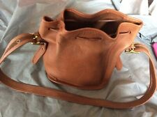Coach Bucket Drawstring Lulu's Legacy 9952 Bag VTG Brown Leather Purse hobo
