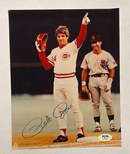 Pete Rose Signed 8x10 Photo Autographed PSA/DNA Sticker ONLY Cincinnati Reds