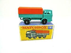 VINTAGE 1967 LESNEY MATCHBOX #1 MERCEDES TRUCK IN ORIGINAL BOX. MINT!