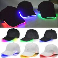 Cool Adjustable Unisex LED Flashing Baseball Sport Hat Light up Glow Hip-Hop Cap