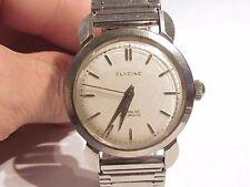 Vintage GLYCINE Bidynator 17 Jewel Automatic Men's Wrist Watch ticks Stainless