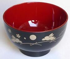 Japanese Usagi Plastic Rice Bowl Bunny Rabbit B #6327 S-2989