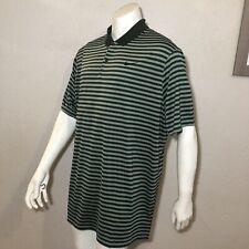 Nike Golf Shirt Dri-FIT Green Striped 891239-355 Mens Sizes 2XL