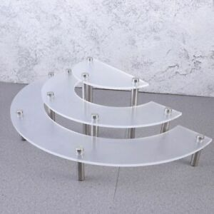 3 Tiers Desserts Display Holder 40x16x20cm Acrylic Wedding Party Cupcakes Stands