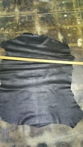 Italian Sheepskin Leather Skin Hide Thin Crystal Black - 7.50 Sq.Ft (1 oz)