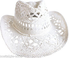 Cowboy Hat white Straw Hat Tex Mex Western Has Country Hat Trapper Cult Riding