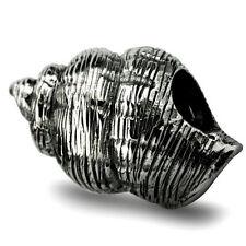 Conchiglia seashell autentico argento Sterling Charm solido OHM Perlina aaa011
