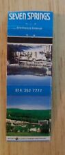 Vintage Matchbook cover Seven Springs Mountain Resort Champion Pennsylvania Rare