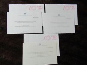 Christmas Thank You Cards x3 Crown Prince Frederik/ Crown Princess Mary Denmark