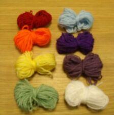 Rainbow wool kit to crochet a rainbow 8 colours @ 20mtrs each + FREE PATTERN  c